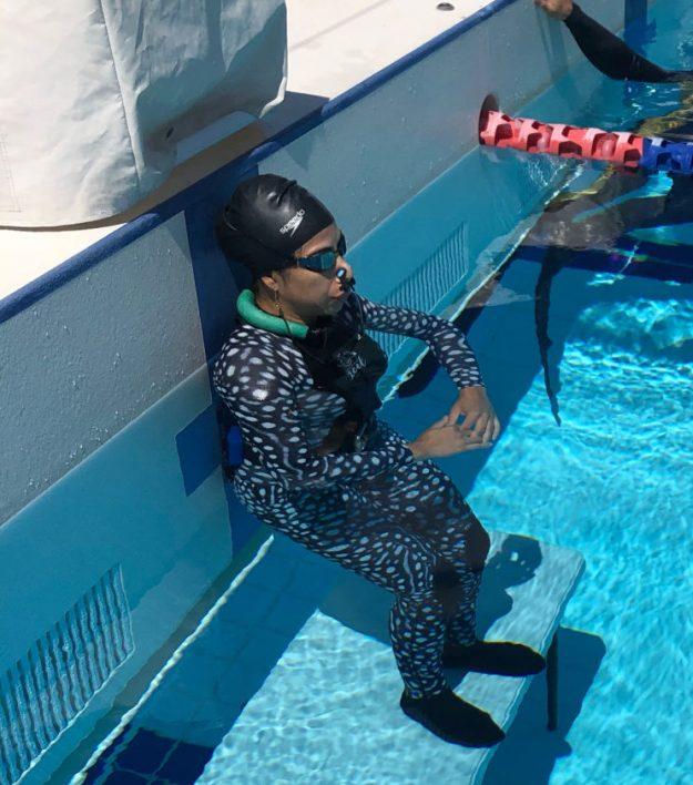 Preparing for a DNF at the Gold Coast Aquatic Centre
